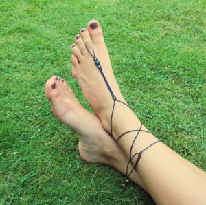 Fusskettchen - Makramee Festival Fußkette