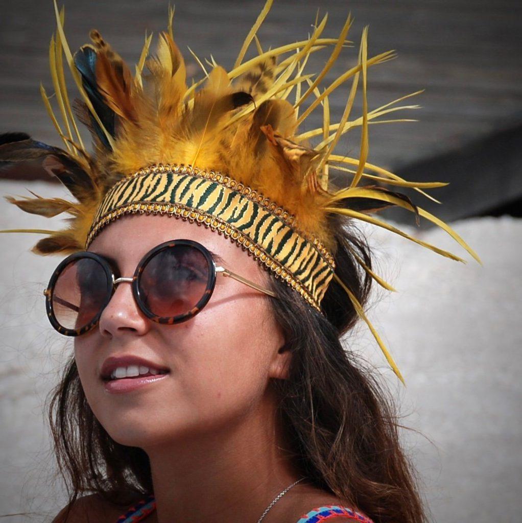 Festival Fashion- Feder Kopfschmuck